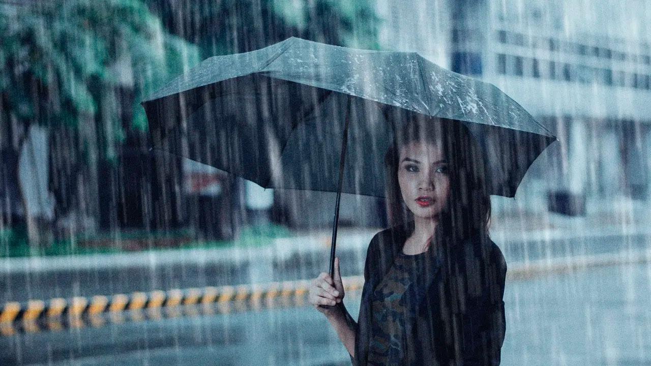 Efecto de lluvia en una foto
