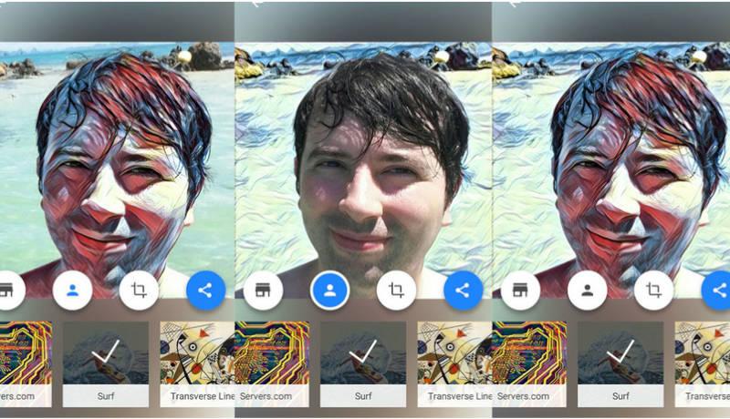 En Prisma aplica los filtros artísticos a tu cara, al fondo, o a ambos