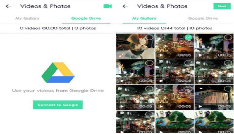 Selección de los elementos para tu video. Imágenes, videos.