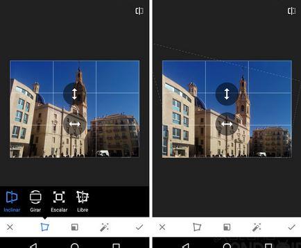 Para modificar la perspectiva de una imagen sólo pulsas Perspectiva automática