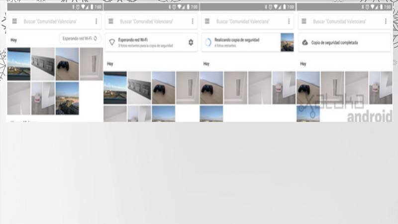 Google enriquece la interfaz en la copia de seguridad
