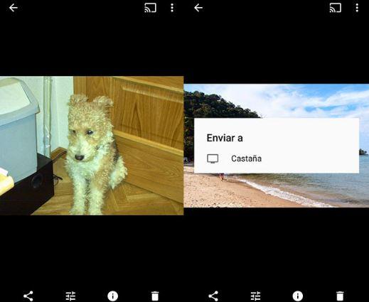 Google Fotos con Chromecast