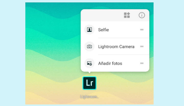 Accesos directos de  Adobe Photoshop Lightroom
