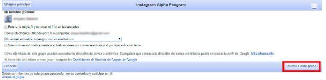 Instagram Alpha